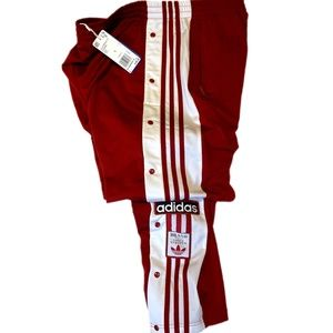 Red Adidas Classic AdiBreak Track Pants - L (NWT)